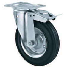 Roda trolly barang bahan karet